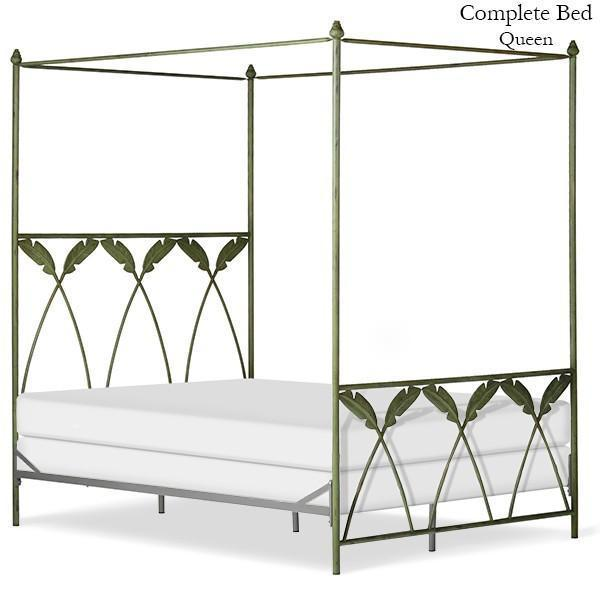 Corsican Iron Canopy Bed 43634 | Straight Canopy Palm Bed