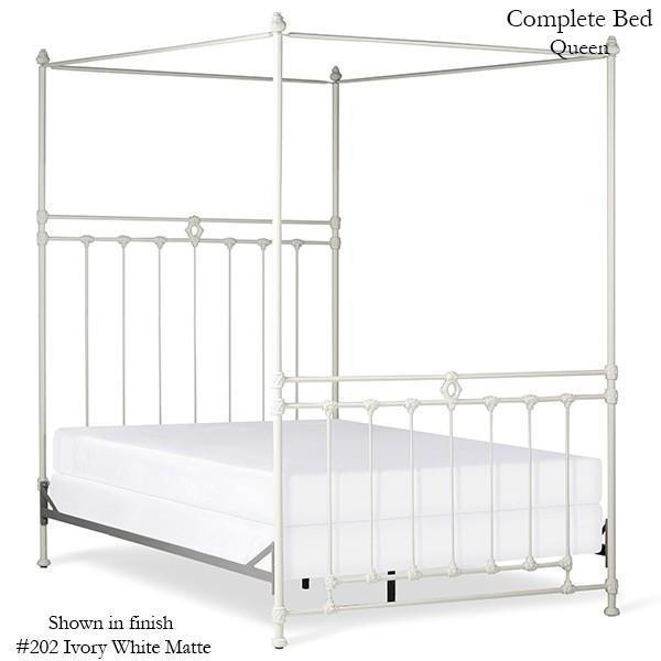 Corsican Iron Canopy Bed 43640 | Straight Canopy Williamsburg Bed