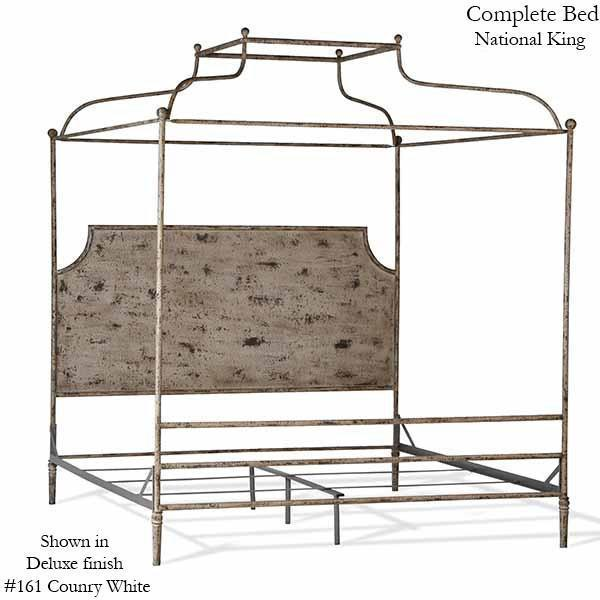 Corsican Iron Canopy Bed 43684 | Double Canopy Olivia Panel Bed-Canopy Bed-Jack and Jill Boutique