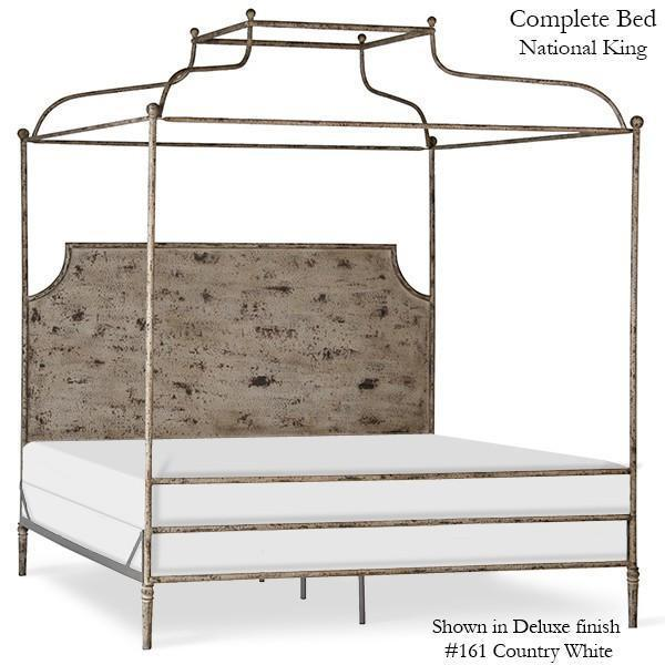 Corsican Iron Canopy Bed 43684 | Double Canopy Olivia Panel Bed