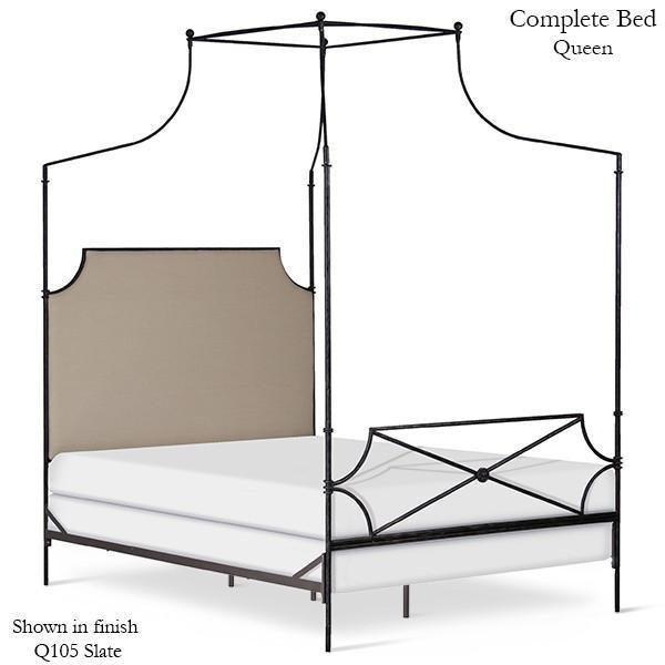 Corsican Iron Canopy Bed 43706 | Hammered Olivia Canopy Bed-Canopy Bed-Jack and Jill Boutique