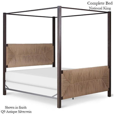 Corsican Iron Canopy Bed 43784 | Straight Canopy Bed-Canopy Bed-Jack and Jill Boutique