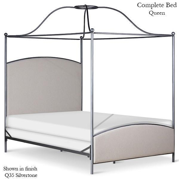 Corsican Iron Canopy Bed 43786 | Double Canopy Upholstered Bed