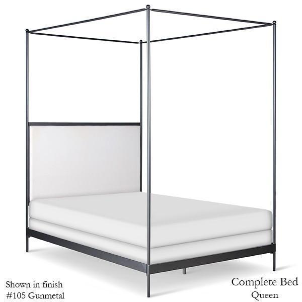 Corsican Iron Canopy Bed 43788 | Upholstered Canopy Bed