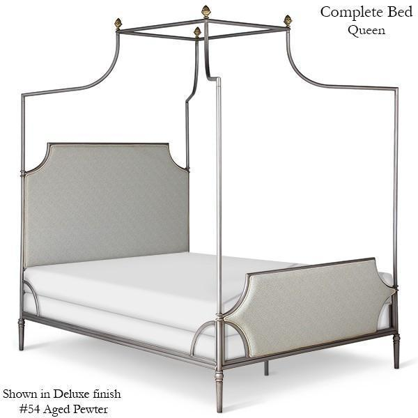 Corsican Iron Canopy Bed 43790 | Upholstered Olivia Canopy Bed