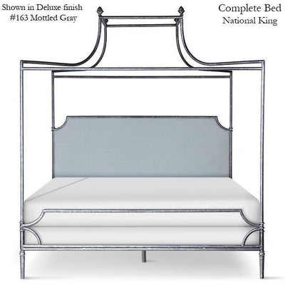 Corsican Iron Canopy Bed 43806 | Upholstered Olivia Double Canopy Bed-Canopy Bed-Jack and Jill Boutique