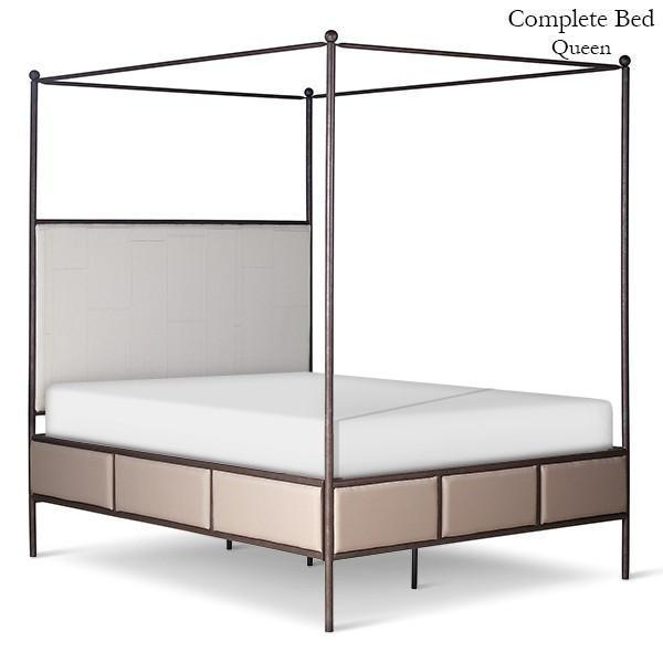 Corsican Iron Canopy Bed 43820 | Upholstered Canopy Bed-Canopy Bed-Jack and Jill Boutique