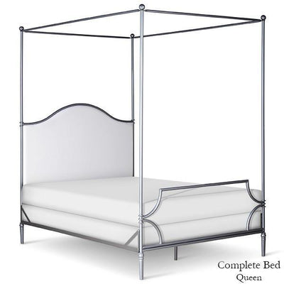 Corsican Iron Canopy Bed 43822 | Upholstered Canopy Bed-Canopy Bed-Jack and Jill Boutique