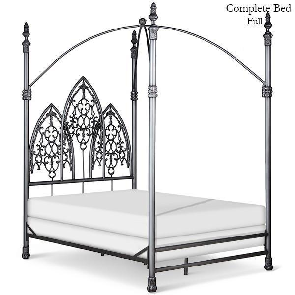 Corsican Iron Canopy Bed 5517 | Gothic Canopy Bed