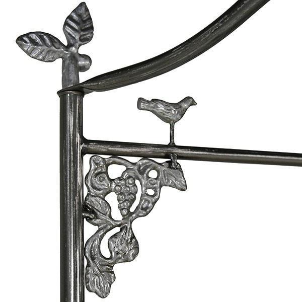 Corsican Iron Cribs 40410 | Stationary Garden Canopy Crib