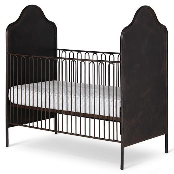 Corsican Iron Cribs 42652 | Stationary Camel Hump Metal Panel Crib-Cribs-Jack and Jill Boutique