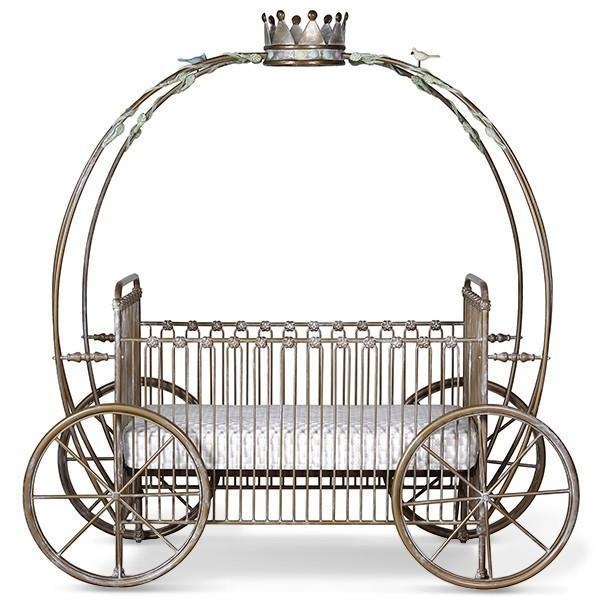 Corsican Iron Cribs 42664 | Stationary Pumpkin Canopy Crib