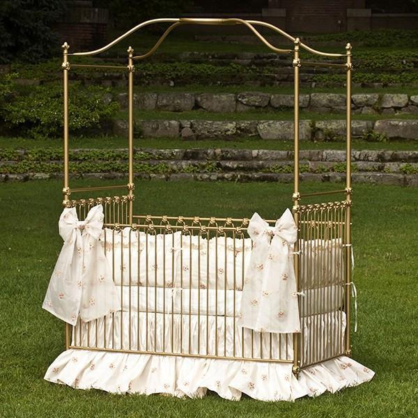 Corsican Iron Cribs 42924 | Stationary Canopy Crib-Cribs-Jack and Jill Boutique