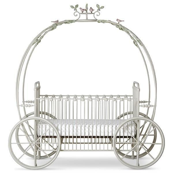 Corsican Iron Cribs 43006 | Statonary Pumpkin Canopy Crib-Cribs-Jack and Jill Boutique