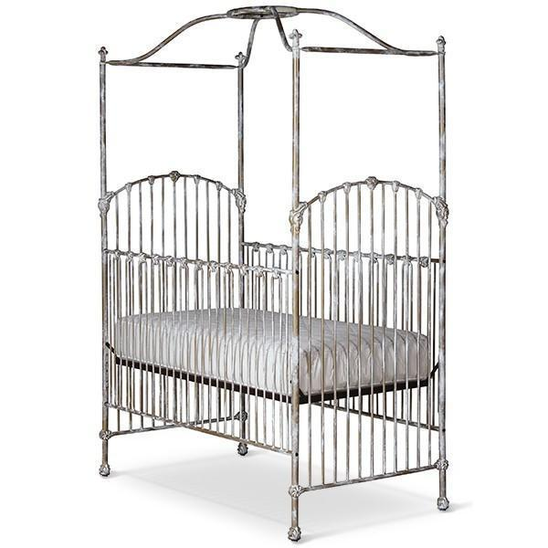 Corsican Iron Cribs 43810 | Stationary Canopy Crib-Cribs-Jack and Jill Boutique
