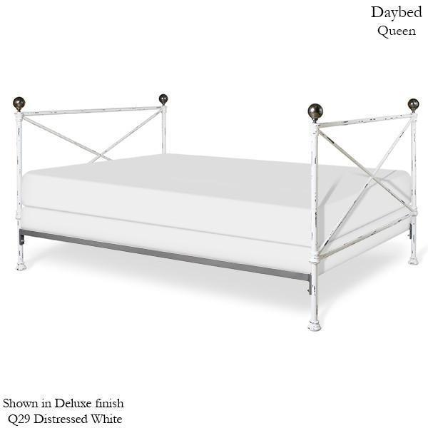 Corsican Iron Daybed 43250 | Daybed with Brass-Day Bed-Jack and Jill Boutique