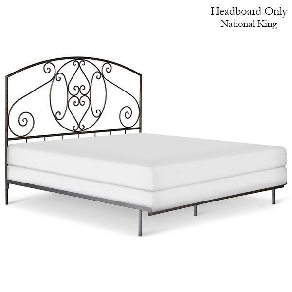 Corsican Iron Headboard 41752 | Headboard Only with Scrolls-Headboard-Jack and Jill Boutique