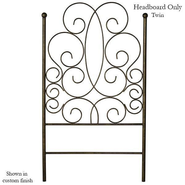 Corsican Iron Headboard 43298 | Headboard Only with Scrolls-Headboard-Jack and Jill Boutique