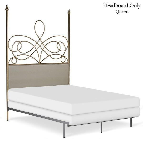 Corsican Iron Headboard 43608 | Headboard Only with Upholstery-Headboard-Jack and Jill Boutique
