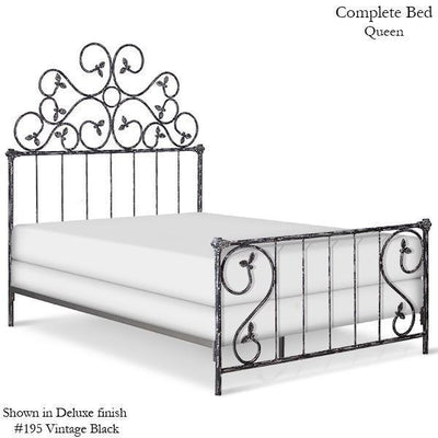 Corsican Iron Standard Bed 1021 | Standard Bed with Vines-Standard Bed-Jack and Jill Boutique