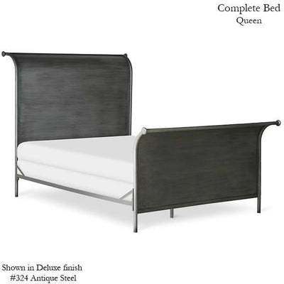 Corsican Iron Standard Bed 1175 | Standard Panel Sleigh Bed-Standard Bed-Jack and Jill Boutique