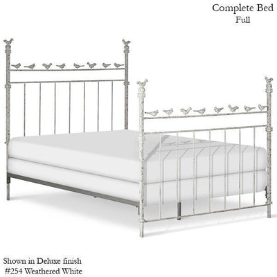 Corsican Iron Standard Bed 2334 | Standard Bed with Birds-Standard Bed-Jack and Jill Boutique