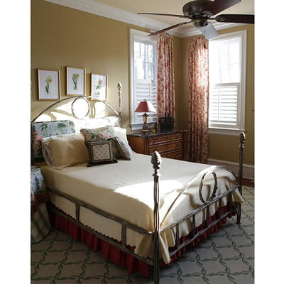 Corsican Iron Standard Bed 2862 | Four Post Twiggy Bed with Upholstery-Standard Bed-Jack and Jill Boutique