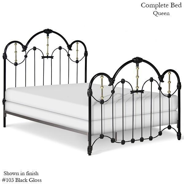 Corsican Iron Standard Bed 40759 | Standard Centennial Bed with Brass