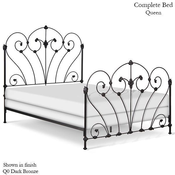 Corsican Iron Standard Bed 43446 | Standard Bed with Scrolls