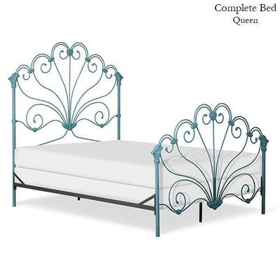 Corsican Iron Standard Bed 43554 | Standard Peacock Bed-Standard Bed-Jack and Jill Boutique