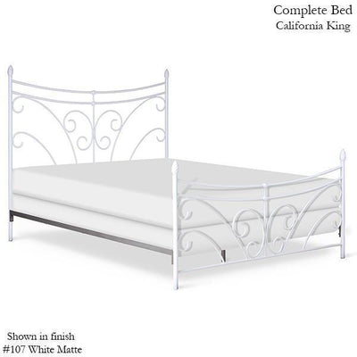 Corsican Iron Standard Bed 43776 | Standard Bed with Scrolls-Standard Bed-188 Vintage Gray-Twin-Jack and Jill Boutique