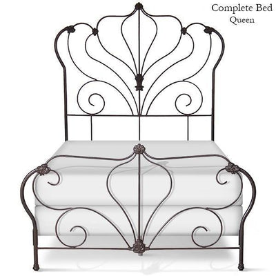 Corsican Iron Standard Bed 5128 | Standard Pagoda Bed-Standard Bed-Jack and Jill Boutique