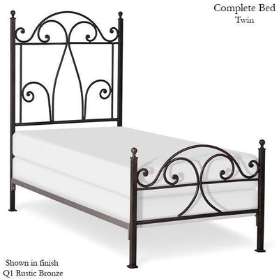 Corsican Iron Standard Bed 5904 | Standard Bed with Scrolls-Standard Bed-Jack and Jill Boutique