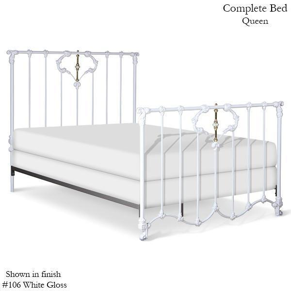 Corsican Iron Standard Bed 6282 | Standard Jasmine Bed with Brass & Porcelain
