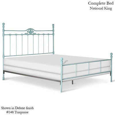 Corsican Iron Standard Bed 6318 | Standard Bed with Shell-Standard Bed-Jack and Jill Boutique