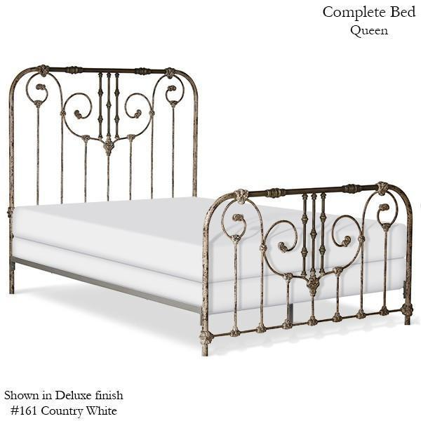 Corsican Iron Standard Bed 6810 | Standard Ajaccio Bed with Scrolls-Standard Bed-Jack and Jill Boutique