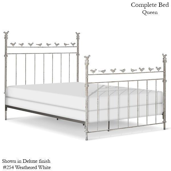 Corsican Iron Youth Beds 2334 | Standard Bed with Birds-Youth Beds-Jack and Jill Boutique
