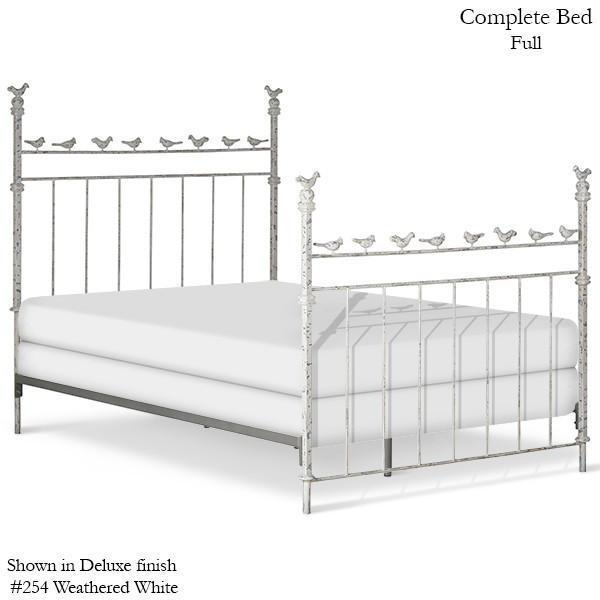 Corsican Iron Youth Beds 2334 | Standard Bed with Birds