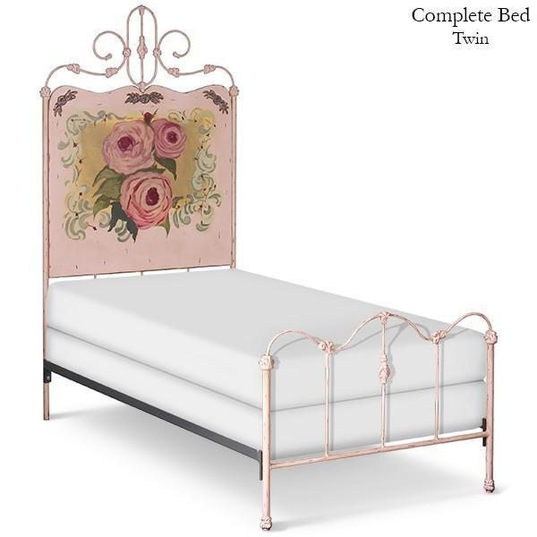 Corsican Iron Youth Beds 40990 | Standard Panel Bed with Roses-Youth Beds-Jack and Jill Boutique