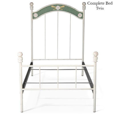 Corsican Iron Youth Beds 6178 | Standard Bed with Baseballs-Youth Beds-Jack and Jill Boutique