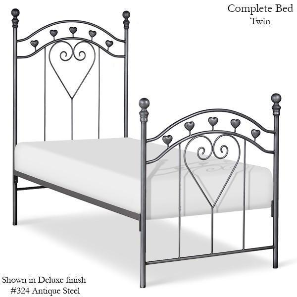 Corsican Iron Youth Beds 6884 | Standard Bed with Hearts