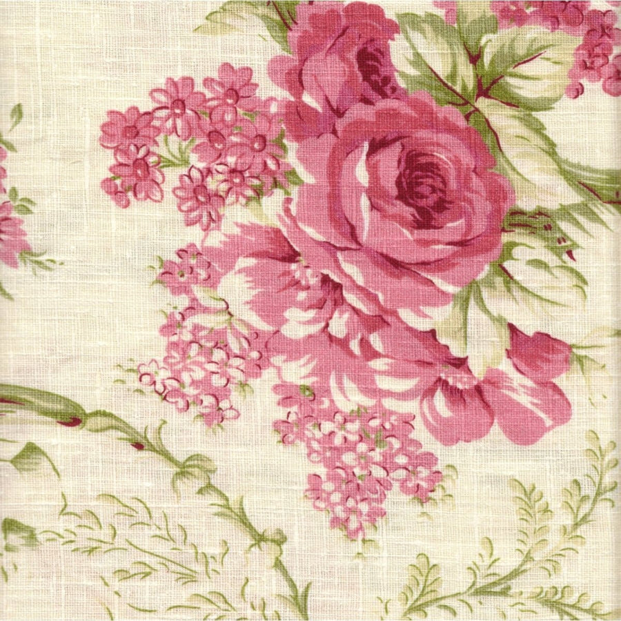 Cottage Garden Designer Fabric by the Yard | 100% European Linen