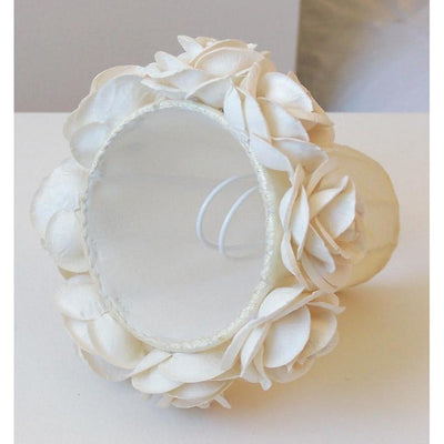 Cream Chandelier Shade with Roses-Chandelier Shades-Default-Jack and Jill Boutique