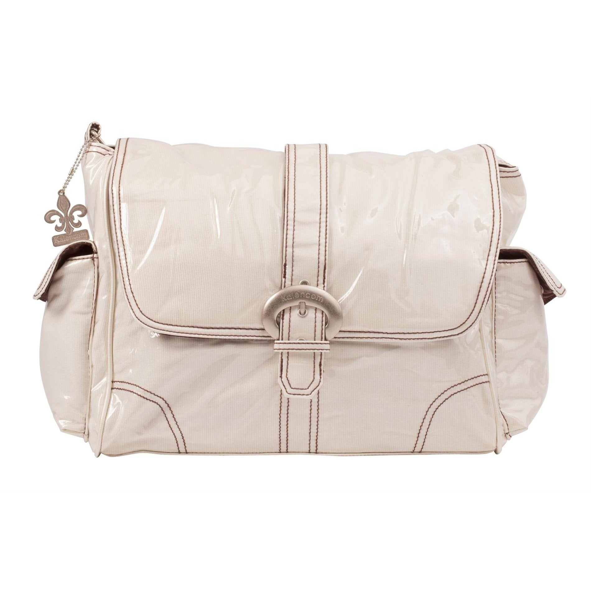 Cream Corduroy Laminated Buckle Diaper Bag | Style 2960 - Kalencom-Diaper Bags-Jack and Jill Boutique
