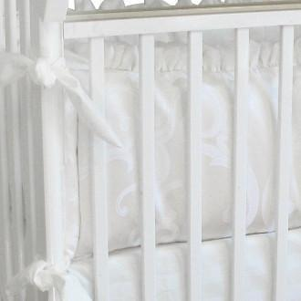 Crib Bumper | Arabesque Luxury Baby Bedding Set-Bumper-Bebe Chic-Jack and Jill Boutique