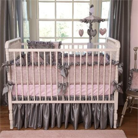 Crib Bumper | Charlotte Luxury Baby Bedding Set-Bumper-Jack and Jill Boutique