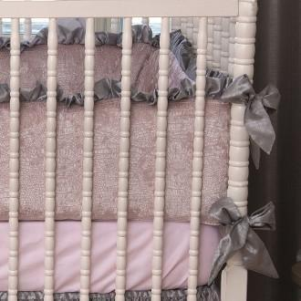 Crib Bumper | Charlotte Luxury Baby Bedding Set-Bumper-Bebe Chic-Jack and Jill Boutique
