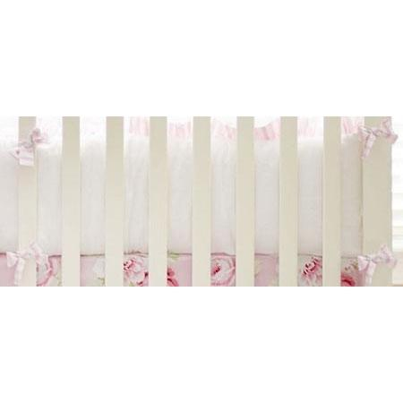 Crib Bumper | Pink Floral Pink Desert Rose Crib Bedding Collection