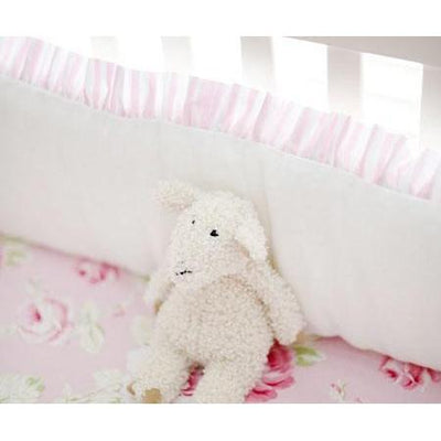 Crib Bumper | Pink Floral Pink Desert Rose Crib Bedding Collection-Bumper-Jack and Jill Boutique