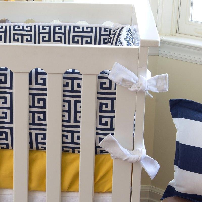 Crib Bumper | Sam – Sunny Yellow Luxury Baby Bedding Set-Bumper-Jack and Jill Boutique